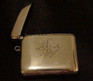 Solid Silver Hallmarked 925 Vesta Case Dated 1907 photo