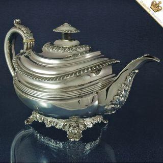 Silver Georgian Teapot By Rebecca Emes & Edward Barnard (i) London 1823 photo