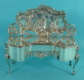 Sterling Silver Novelty Jewellery Box Dressing Table Dresser William Comyns 1901 photo