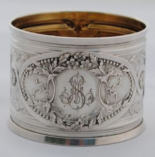 Antique French Sterling Silver Louis Xvi Napkin Ring photo