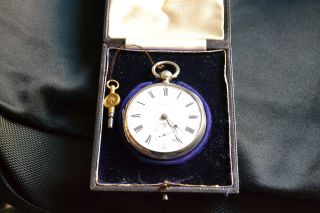 An Absolutely Stunning Solid Silver Pocket Watch 1876 photo