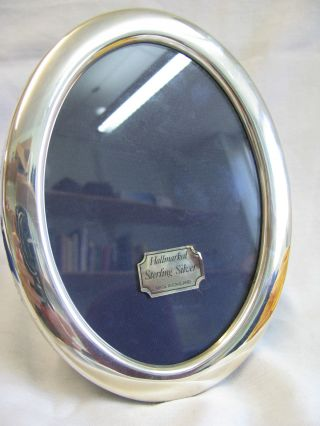 Solid Silver Photo Frame Oval 17 X 13cm Carrs Sheffield 1988 photo