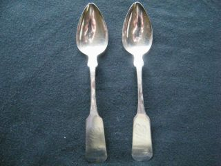 2 (two) Jas.  P.  Steele Coin Silver Teaspoons - Vintage - Rochester,  New York photo