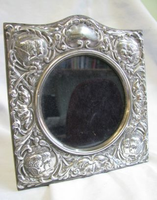 Solid Silver Photo Frame With Cherub Design Rh 1989 Birmingham photo