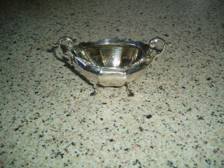 Looking Solid Silver Sugar Bowl Or Mustard Pot Or Other photo
