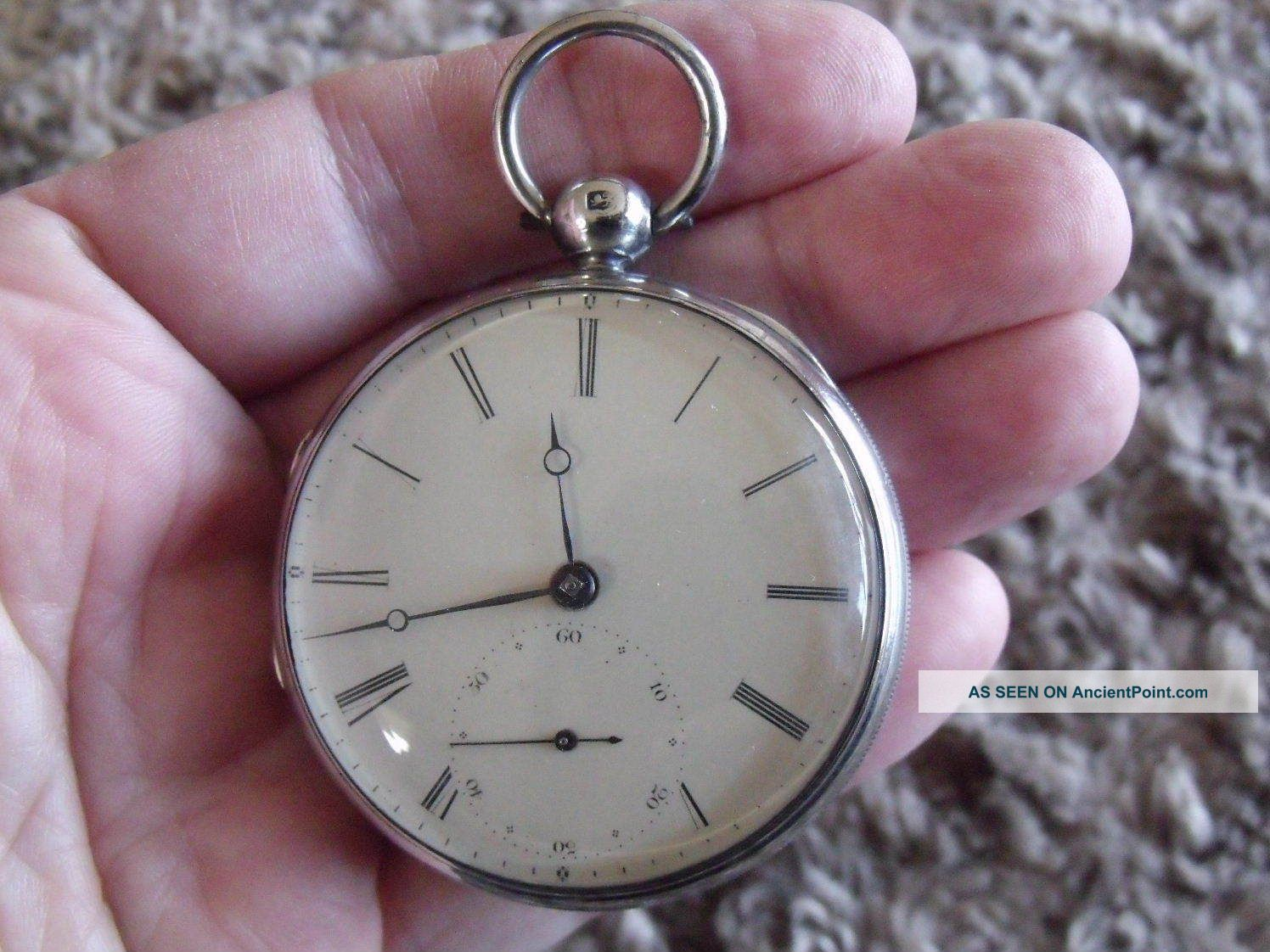 Silver Fusee ' Patent ' Pocket Watch ' Jj Drielsma,  Liverpool ' 1839/40 Pocket Watches/ Chains/ Fobs photo