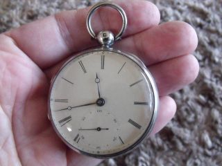 Silver Fusee ' Patent ' Pocket Watch ' Jj Drielsma,  Liverpool ' 1839/40 photo