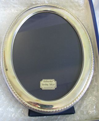 Solid Silver Photo Frame Oval 22 X 17cm Carrs Sheffield 1988 photo