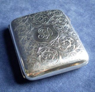 Heavy 97g Engraved Solid Silver Case B ' Ham 1920 By Hasset & Harper photo