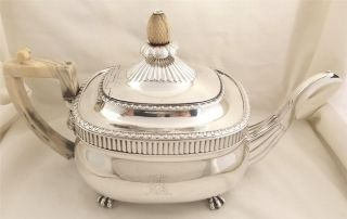 Antique Hallmarked Sterling Silver Teapot - 1806 - Naphthali Hart - 851g Lion Head photo