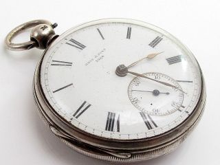 Antique Reid & Sons Newcastle Solid Silver Case Pocket Watch photo