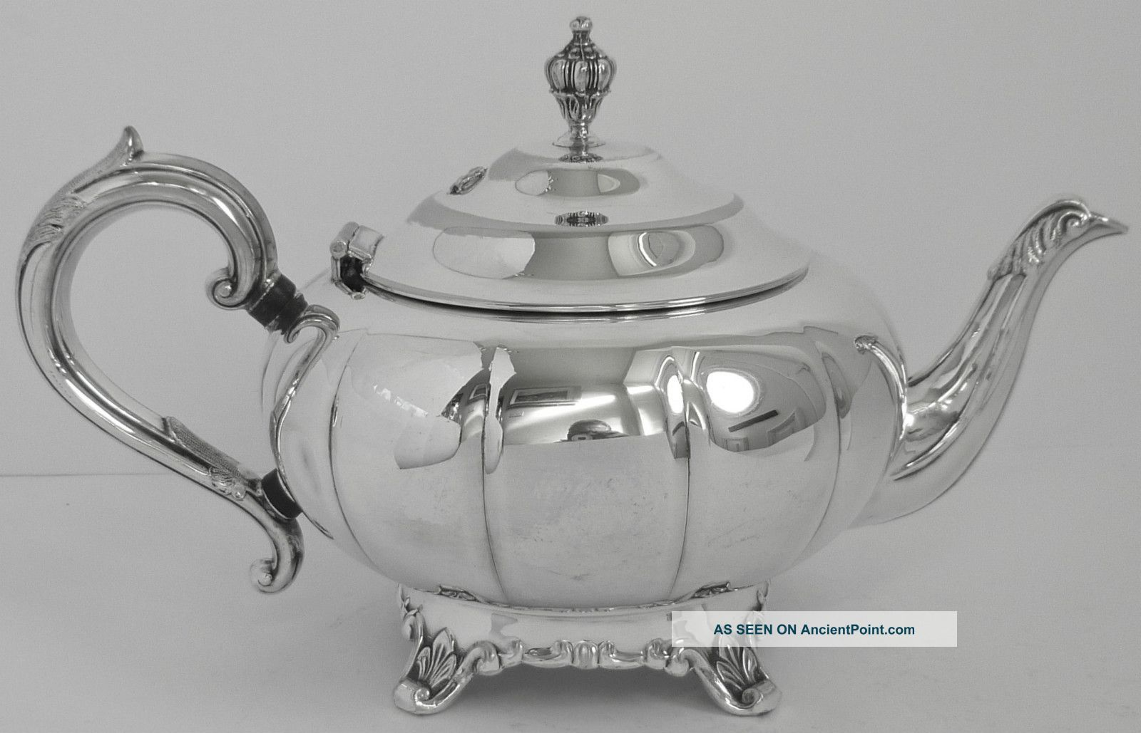 Silver Plated Teapot W M A Rogers Canada 3177 Ep Copper Fluted Tea/Coffee Pots & Sets photo