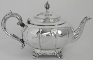 Silver Plated Teapot W M A Rogers Canada 3177 Ep Copper Fluted photo