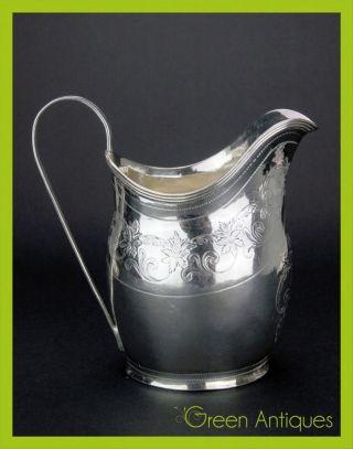 Antique 19thc Georgian Solid Silver Cream Jug,  P,  A & William Bateman C.  1800 photo