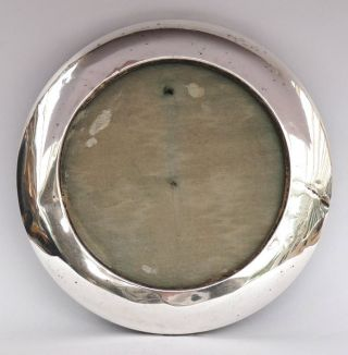 Antique Solid Silver Round Circular Photograph Picture Frame C1910 photo