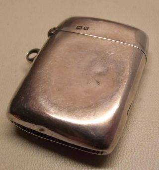 Antique Solid Silver Vesta Case Chatelaine Fob Circa 1865 Makers Mark W.  A photo