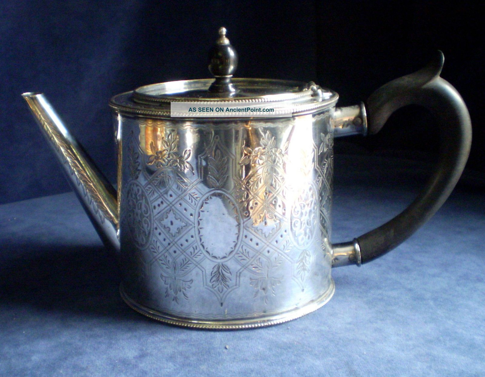 Silver Plated Hand Engraved Georgian Barrel Teapot C1825 Tea/Coffee Pots & Sets photo