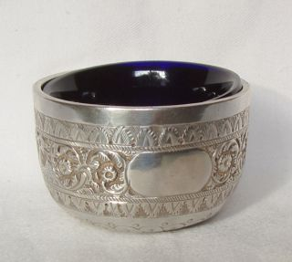 Antique 1884 Silver Salt Dish,  George Maudsley Jackson,  London,  48.  2.  Grams photo