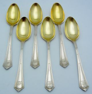 6 - Gorham Sterling Silver Demitasse Spoons Plymouth photo