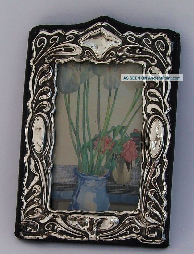 Lovely Antique Repousse Solid Silver Photo Photograph Picture Frame,  1904.  2 Frames photo