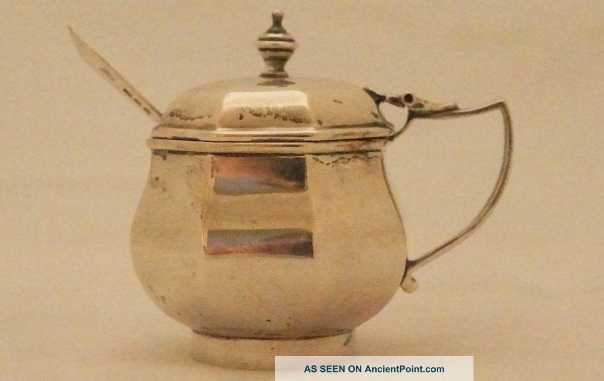 Solid Silver Hallmarked 925 Art Nouveau Mustard Pot Dated 1903 Mustard Pots photo
