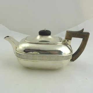 Rare Georgian Solid Silver Bachelor Teapot Hallmarked London 1807 Stunning Nr photo