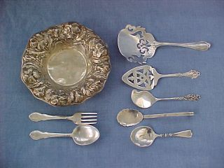 Lot 196 Gr Scrap Or Repair Eight Sterling Silver Pieces Gorham Towle Lunt & More photo