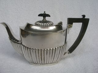 Victorian Silver Plated Bachelor Teapot By Henry Hobson & Sons.  Good Condition. photo