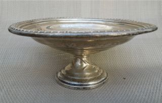 Antique Silver Compote Dish Empire Sterling Weighted (4 Oz) photo