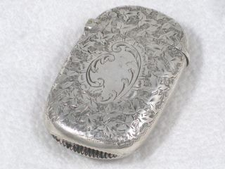 Victorian Sterling Silver Match Or Vesta Case From London Dated 1895 photo