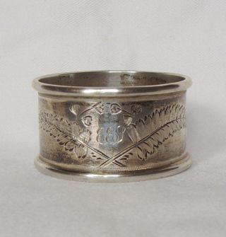 Antique 1878 Silver Napkin Ring,  Richard Martin & Ebenezer Hall 21.  9 Grams photo