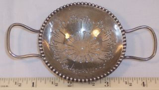 Antique Whiting Gorham Sterling Silver Tea Strainer Cup Teapot Ex.  Cond photo