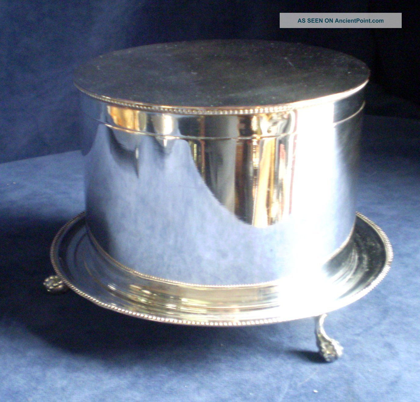 Silver Plated Victorian Biscuit Barrel / Tea Caddy C1875 Other photo