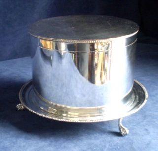 Silver Plated Victorian Biscuit Barrel / Tea Caddy C1875 photo