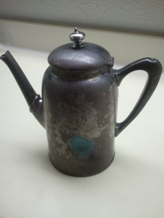 James W Tufts Antique Quadruple Silverplate Tea Pot 1932 photo