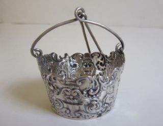 Continental Sterling Silver Bucket Form Tea Strainer photo
