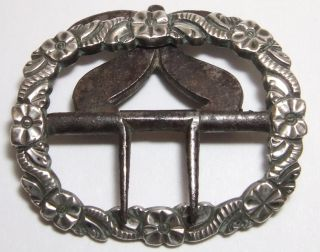 @@ A 18c Antique Georgian Silver Breeches Buckle @@ photo