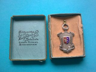 Silver Hallmarked Football Medal - Ipswich Town Fc 1938 - 39 photo