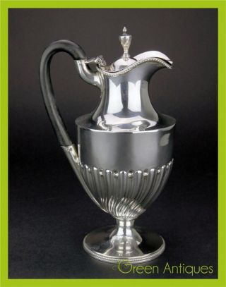 Antique 18thc Georgian Solid Silver Coffee Pot,  Robert Hennell I,  London C.  1781 photo