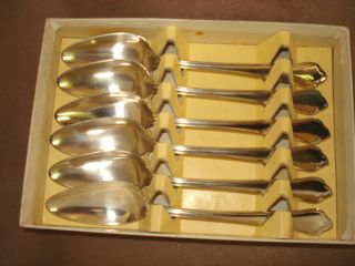 Good Quality Set Of 6 Silver Plated Grapefruit Spoons photo