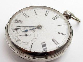 Antique Victorian Waltham Mass Working Silver Case Pocket Watch photo