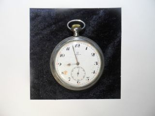 Omega Solid Silver Pocket Watch.  From 1920 photo