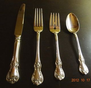 Towle Old Master Sterling Silver 4 Pc Flatware (1) Place Setting Silverware photo