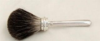 Antique Hallmarked Sterling Silver Shaving Brush 1906 photo