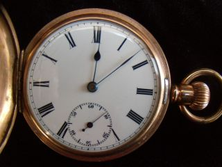 Vintage English Gold Plated Star Pocket Watch photo