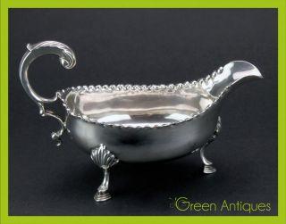 Antique 18thc Georgian Solid Silver Hester Bateman Sauce Boat,  London C.  1782 photo