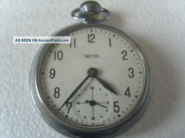 Gents Smiths Pocket Watch - Workinng - Needs Service Pocket Watches/ Chains/ Fobs photo