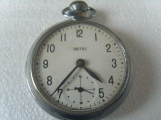 Gents Smiths Pocket Watch - Workinng - Needs Service photo
