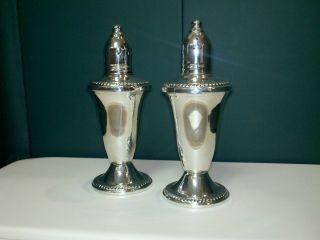 Duchin Creation Sterling Silver Salt & Pepper Shaker Set photo
