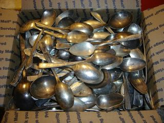 287 Piece Assorted Silverplate Flatware For Crafts Or Use See Pics photo